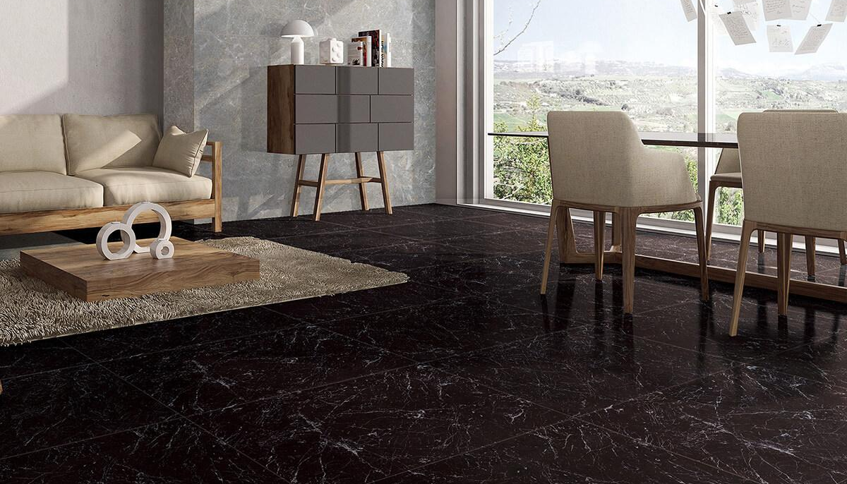Jet Black Marble Tile