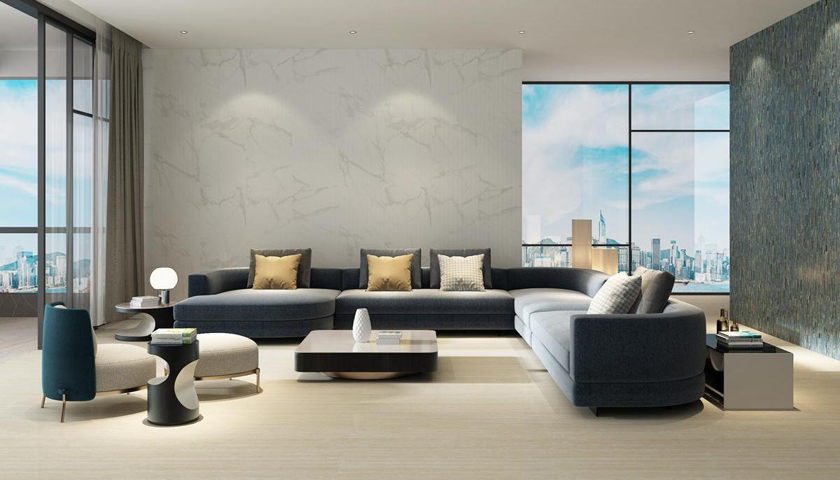 Statuario Calacatta Relief Marble Tile