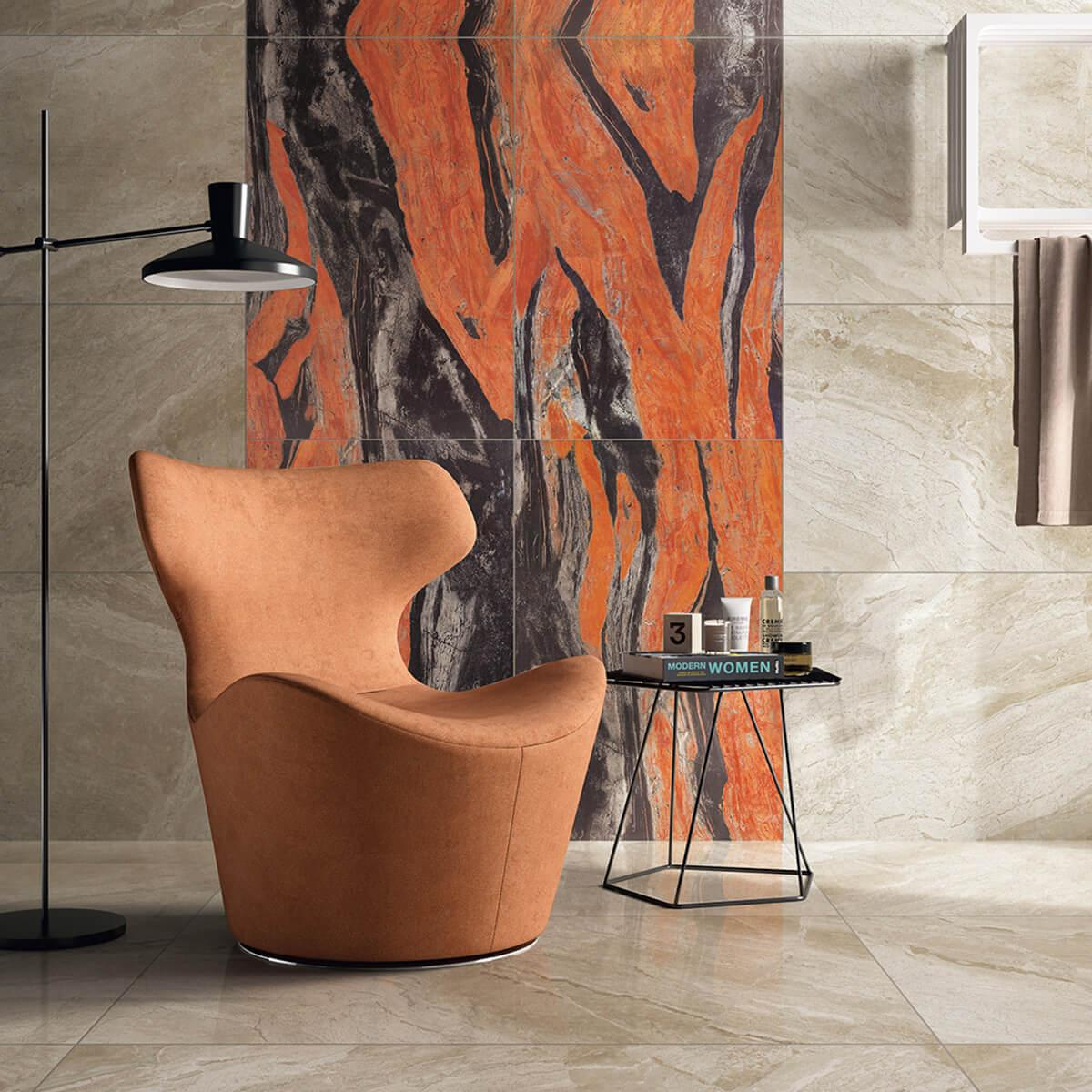D694830BM - Butterfly Red Marble Tile